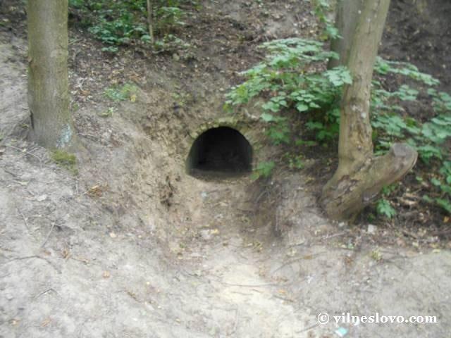 Потерна - підземний хід. Лиса гора, Київ