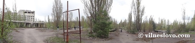 Колишні спортивні майданчики молодого міста Прип'ять