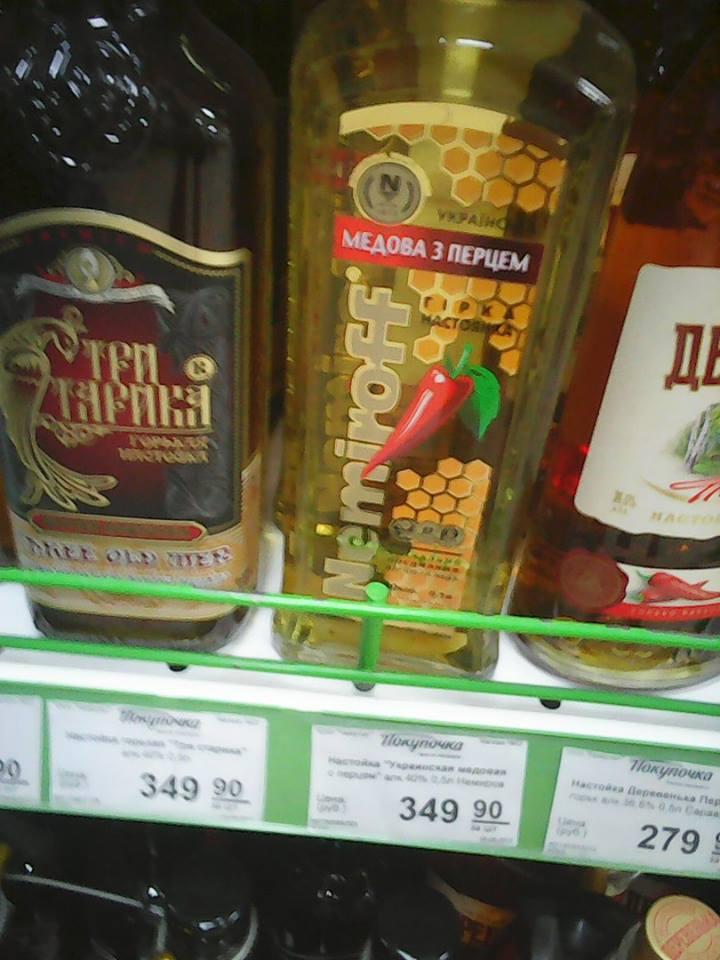Украинский алкоголь в России