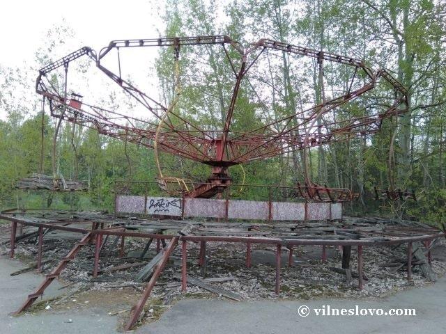 Аттракцион в парке города Припять