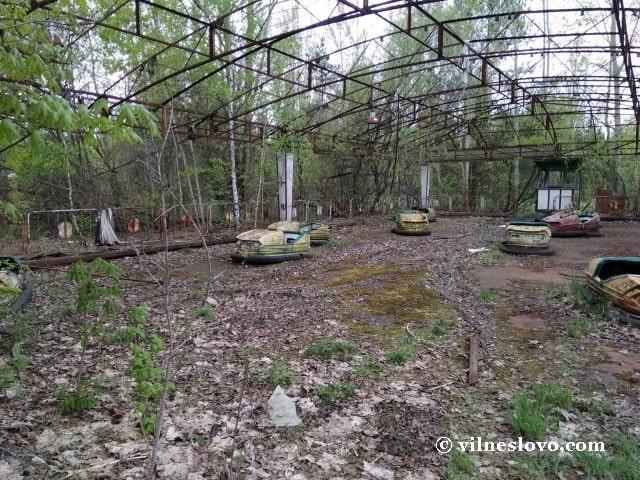 Автодром - машинки в парке города Припять