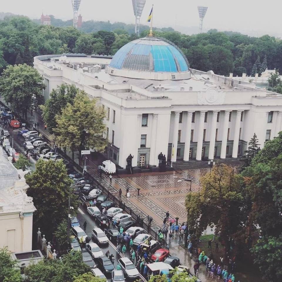 Ради чего евробляхеры парализовали центр Киева?