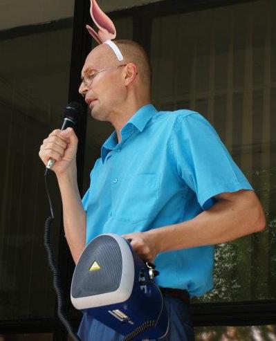 Черняховський на мітингу