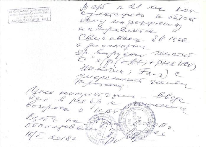 О состоянии здоровья Елены Свиченской (фото, документы)
