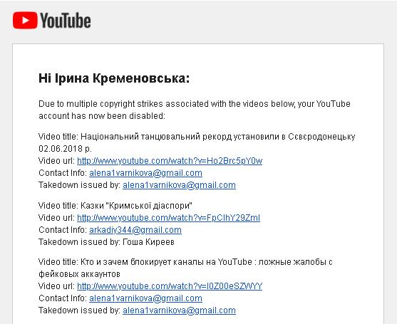 YouTube удалил видео