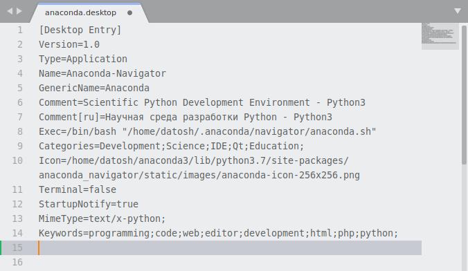 Установка «Anaconda» и настройка запуска «Anaconda-Navigator» в Debian GNU/Linux 10