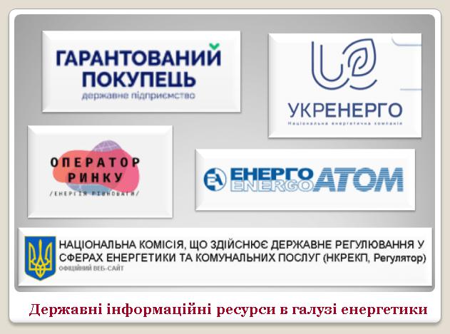 Проблеми захисту державних інформаційних ресурсів у галузі енергетики