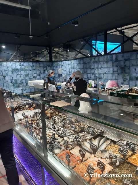 Рыбный отдел супермаркета