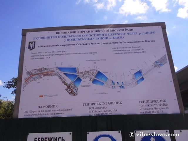 Подільсько-Воскресенський міст, план будівництва