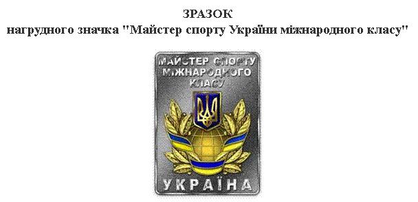 Знак Майстер спорту України міжнародного класу