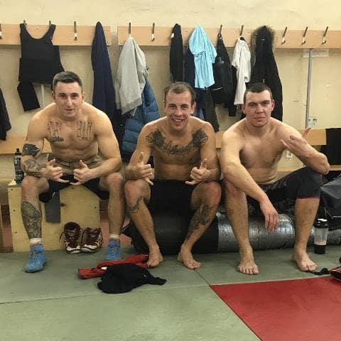 Олексій Заєць тренується з боксерами