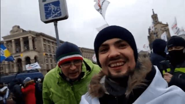 Провокатори на мітингу Save ФОП