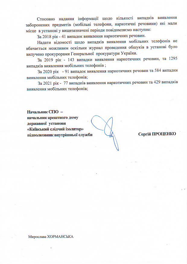 Статистика Київського слідчого ізолятору 3